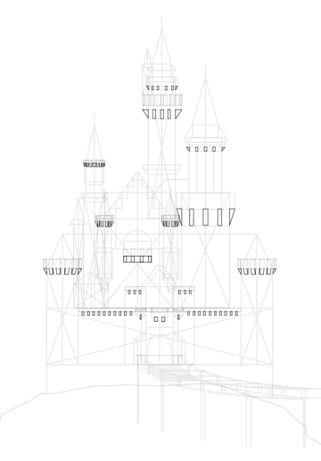 draw castle corbels