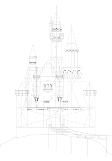 draw castle arches