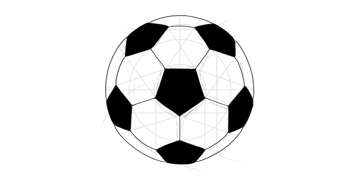 how to draw soccer ball