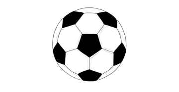 draw soccer ball step by step