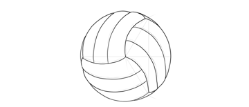 draw a volleyball
