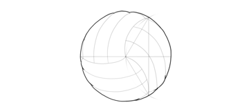 outline volleyball