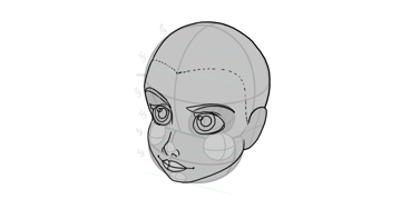 disney head facial features