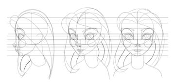 draw rhythm of hair