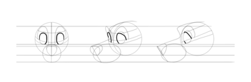draw upper dog eyelids