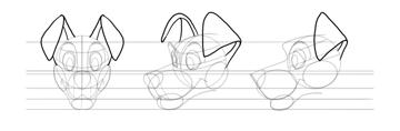 draw dog ears