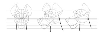 draw dog neck