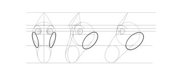 draw horse cheeks