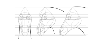 draw horse neck
