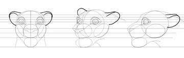 draw lion ears