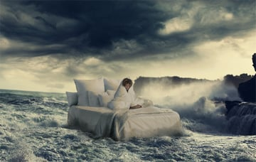 how to place bed in water in photoshop
