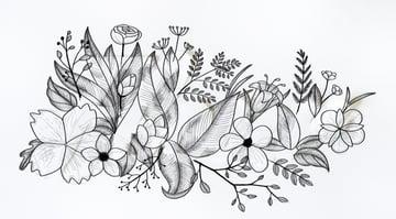 draw texture of flower patelas