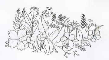 outline the leaves