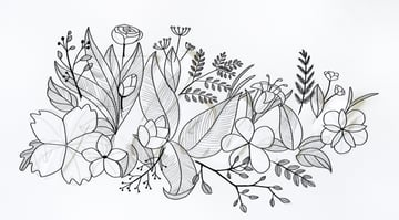 draw veins on big leaves