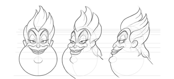 how to draw ursula from little mermaid