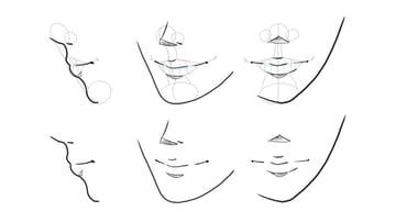 manga lips turnaround