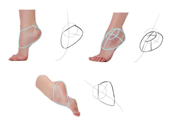 how to draw feet simple way
