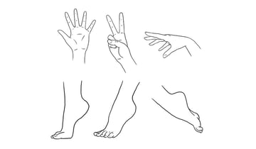 how to draw hands and feet anime manga