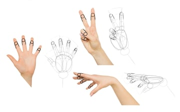 how to draw finger shape