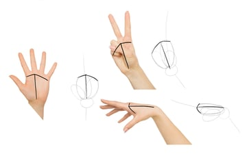 draw rhythm of fingers