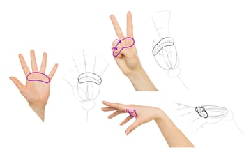 draw finger cushions