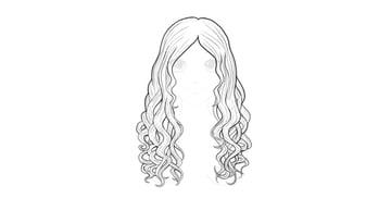 wavy hair drawing tutorial