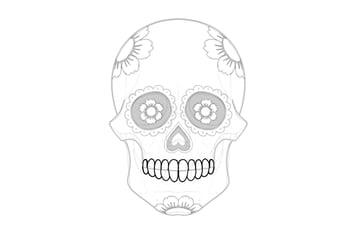 draw teeth on sugar skull