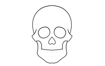 simple outline of sugar skull
