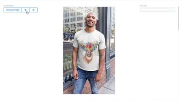 tshirt mockup template smiling man