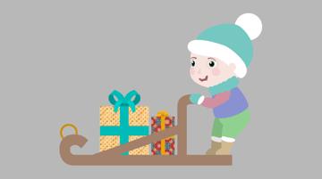 create vector sled presents