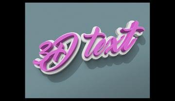 rubber logo text effect