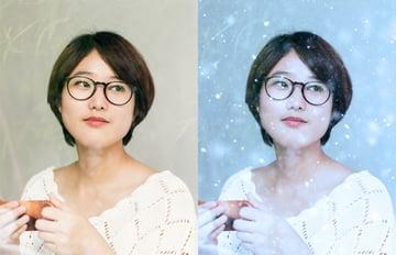 snow photo effect