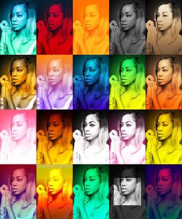 vibrant colors effect