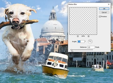 add motion blur to boat
