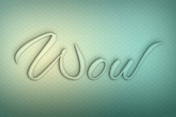 Glass Texture Photoshop Tutorial text with shadow