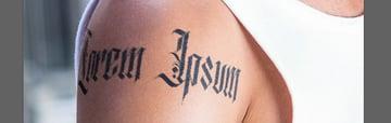create relistic shine tattoo