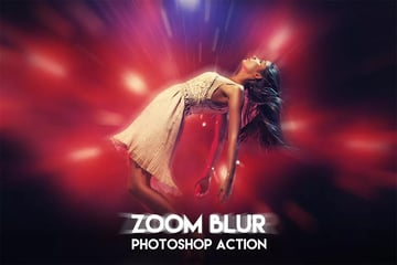 Zoom Blur Photoshop Action