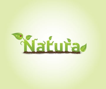 create nature text effect