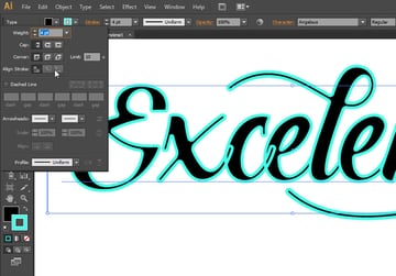 add outer stroke to text illustrator