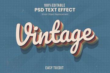 Retro 3D Text Effect Action PSD