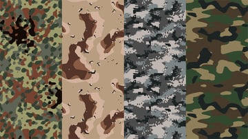types of camouflage patterns