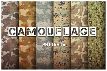 military camouflage patterns set