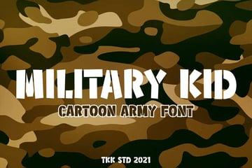 Army Kids Font