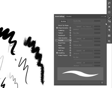 brush settings panel