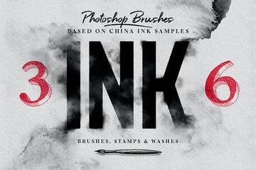 photoshop ink brushes