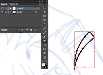 using the curvature tool sfift to create smooth curves and straight lines