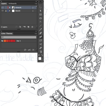 tracing using the pen tool P curvature tool Shift and ellipse tool E on adobe illustrator cc
