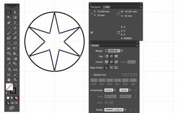 Star dialog box 6 pointed star tool radius points pattern eid greeting card cap round corner round join miss chatz