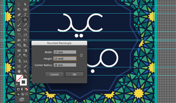 rounded rectangle tool radius width height letter creation eid greeting