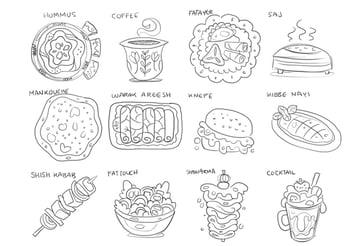 sketch lebaanese food